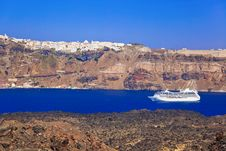 Free Santorini View From Volcano Stock Photography - 16462522