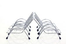 Free Top View Silver Steel Chair Stock Images - 16462824
