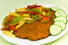 Free Original Fried Breaded Veal Viennese (could Be Eit Royalty Free Stock Photo - 16463045