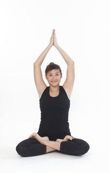 Asian Yoga Training Master Stock Photos
