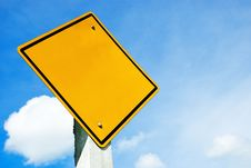 Free Blank Yellow Sign Stock Photo - 16464330