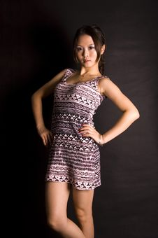 Free Cute Chinese Teenager In Skirt Stock Photos - 16464423