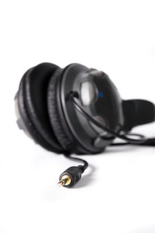 Free Isolated Powerful Stereo Headphones Royalty Free Stock Image - 16464656