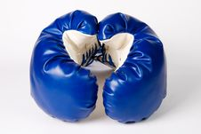 Free Pair Of Boxing Gloves On White Stock Photos - 16464663