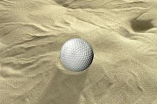 Free Ball In Sand Trap Stock Image - 16464931
