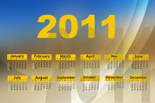 Free Calendar For Year 2011 Stock Images - 16465324