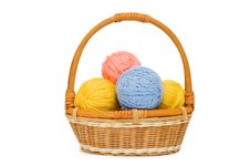 Free Ball Of Threads In A Basket Stock Image - 16465351