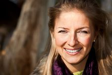 Free Caucasian Young Adult Blond Woman Outdoor Fall Tim Stock Photography - 16465402