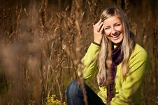 Free Caucasian Young Adult Blond Woman Outdoor Fall Tim Stock Photo - 16465500
