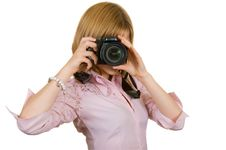Free Photographer Girl Stock Photo - 16465540
