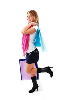 Free Shopping Girl Royalty Free Stock Photography - 16465607