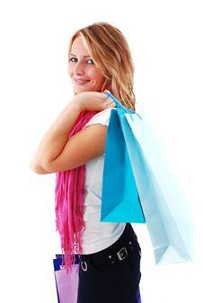 Free Shopping Girl Royalty Free Stock Photo - 16465615