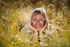 Free Caucasian Young Adult Blond Woman Outdoor Fall Tim Stock Photos - 16465643