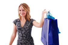 Free Shopping Girl Royalty Free Stock Photo - 16465645