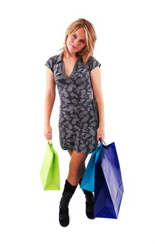 Free Shopping Girl Stock Image - 16465651