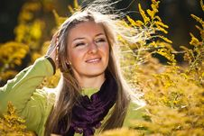 Free Caucasian Young Adult Blond Woman Outdoor Fall Tim Royalty Free Stock Images - 16465679
