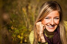 Free Caucasian Young Adult Blond Woman Outdoor Fall Tim Royalty Free Stock Photography - 16465737