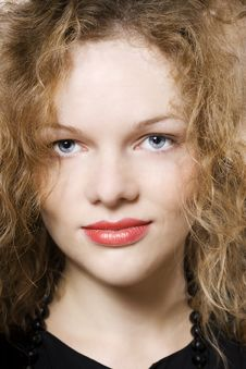 Free Young Woman With Curly Hairs Stock Image - 16466431