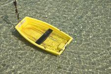 Free Yellow Boat, Green Sea Stock Photography - 16466662