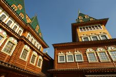 Free Wooden Palace In Kolomenskoe. Reconstruction Royalty Free Stock Image - 16466686