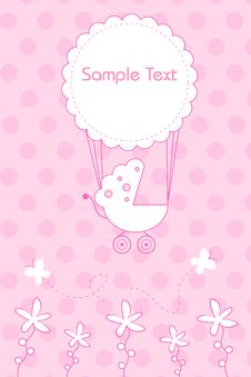Free Arrival Of Baby Announcement Royalty Free Stock Images - 16466989