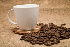 Free Grains And Cup Of Coffee Stock Images - 16468054