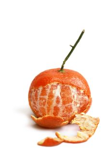 Free Clementine Partly Peeled Royalty Free Stock Image - 16468216