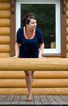 Free Girl On A Veranda Stock Photo - 16468830