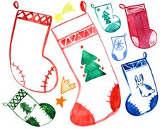 Free Christmas Socks Royalty Free Stock Image - 16468856