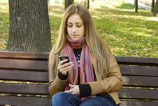 Free Woman Using Cell Phone Stock Image - 16469061