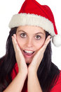 Free Surprised Girl With Christmas Hat Stock Images - 16477834