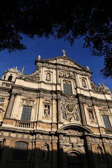 Free Carolus Borromeus Church At Antwerp Royalty Free Stock Image - 16470096