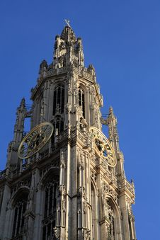 Cathedral Of Our Lady At Antwerp Stock Photography