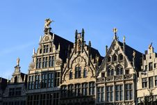 Guild Houses At Antwerp Grand Market Stock Photography