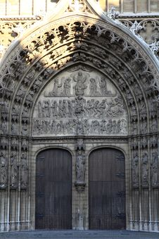 The Gate Decoration Of Cathedral Of Our Lady Stock Photo