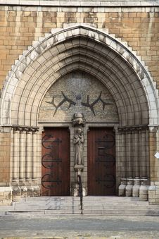 The Gate Of Sint Antonius Van Padua At Antwerp Stock Photography