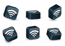 Free Three-Dimensional WiFi Blocks Stock Images - 16470484
