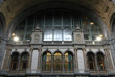 Free Central Station At Antwerp, Station Interior Stock Image - 16470501