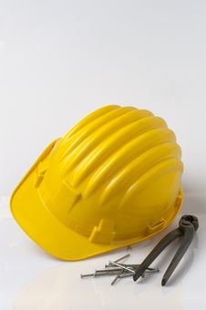 Free Helmet, Pincers And Pins Royalty Free Stock Photos - 16470758