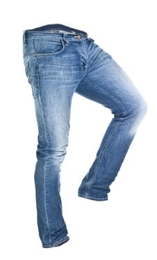 Free Worn Blue Jeans Isolated Royalty Free Stock Images - 16470809