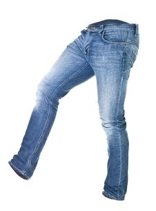 Free Worn Blue Jeans Isolated Stock Photography - 16470832