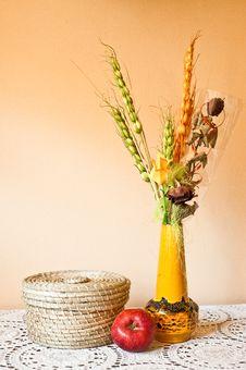 Autumn Still Life Decorative Composition Stock Images