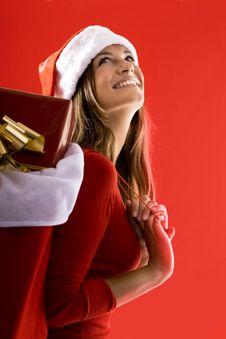 Free Cheerful Santa Girl Royalty Free Stock Images - 16471249