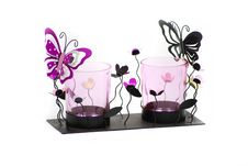 Free Butterfly Candle Holder Set Stock Photo - 16471900