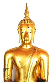 Free Golden Buddha Statue Isolated Stock Photo - 16472260