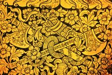 Free Ancient Thai Pattern On Wall Royalty Free Stock Images - 16472399