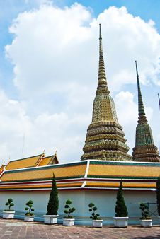 Free Wat Pho Buddha Temple In Thailand Stock Photography - 16472552