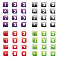 Free Number Buttons Royalty Free Stock Images - 16472809