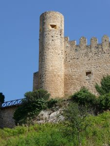 Frias Castle, Burgos, Spain Royalty Free Stock Photography