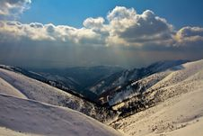 Winter In Carpathian Mountains Stock Image